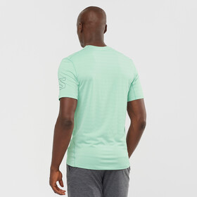 Salomon Outline SS Tee Men, opal blue/heather